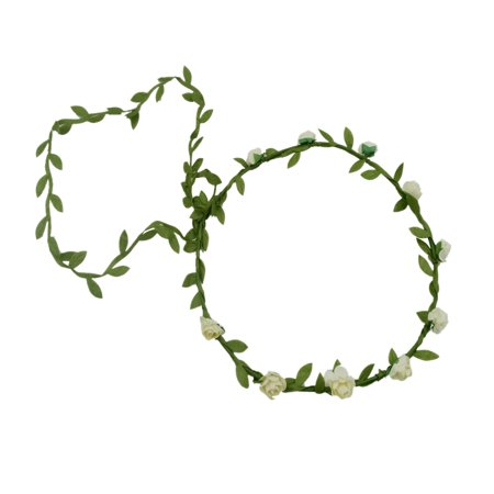 Cute Flower Crown Wreath Floral Garland Headband Party Supplies Decorations for Festival Wedding Party Vacation Photography