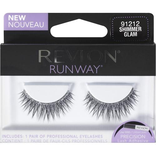 Revlon Runway Eyelashes, 91212 Shimmer Glam, 1 pr