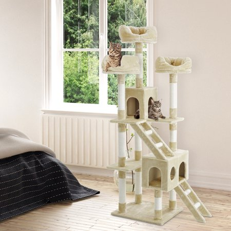 "71"" H Cat Tree with Sisal Covered Scratching Posts Perches, Platforms and Ladders"