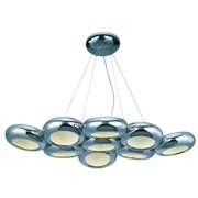 ET2 E22599-PC Polished Chrome Donuts 9 Light LED Chandelier