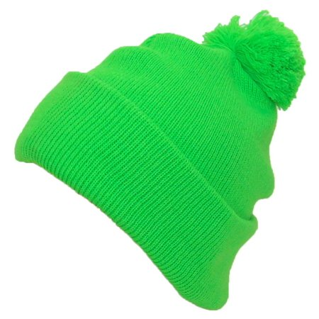 Best Winter Hats Quality Bright Neon Cuffed Hat W Large Pom Pom (One  Size)(Fits Large Heads) - Green - Walmart.com 50b698f4b7d