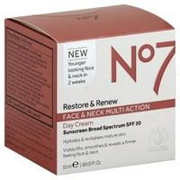 No7 Restore & Renew Face & Neck Multi Action day Cream 1.69 Oz