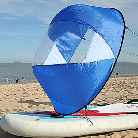 Foldable Durable Kayak Boat Wind Sail Sup Paddle Board Sailing Canoe Stroke Wind Paddle Rowing Boats Wind With Clear Window Surfling](sup paddle handle grip)