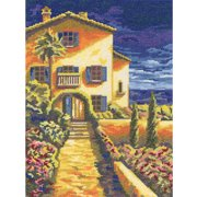 "Riviera Counted Cross Stitch Kit, 8.75"" x 11.5"", 14 Count"