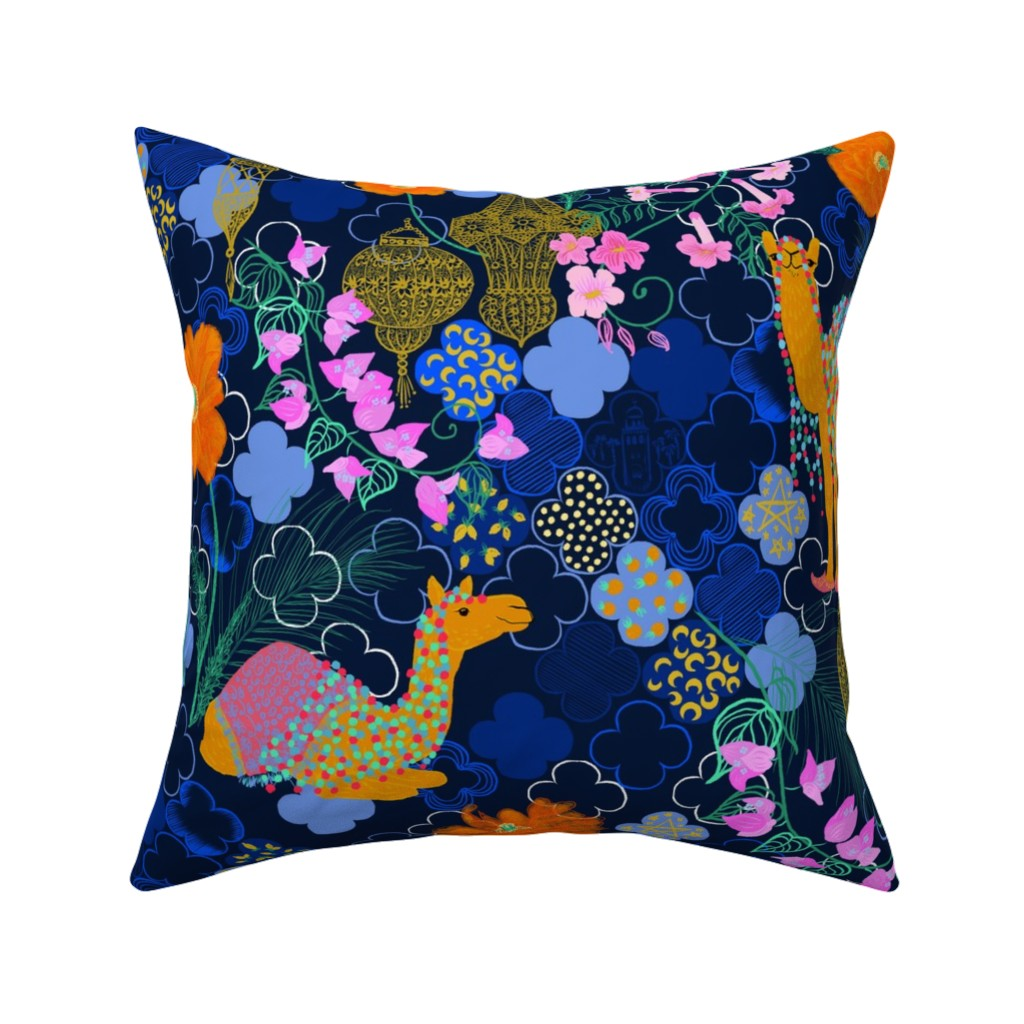 by helenpdesigns Marrakesh Inspired Cotton Sateen Pillow Sham Bedding by Spoonflower Marrakesh navy Colorful Morocco Pillow Sham