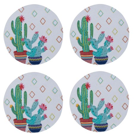 Kay Dee Placemat (Cactus Garden Southwest Flair Braided Placemats Kitchen or Dining Room Set of 4 )