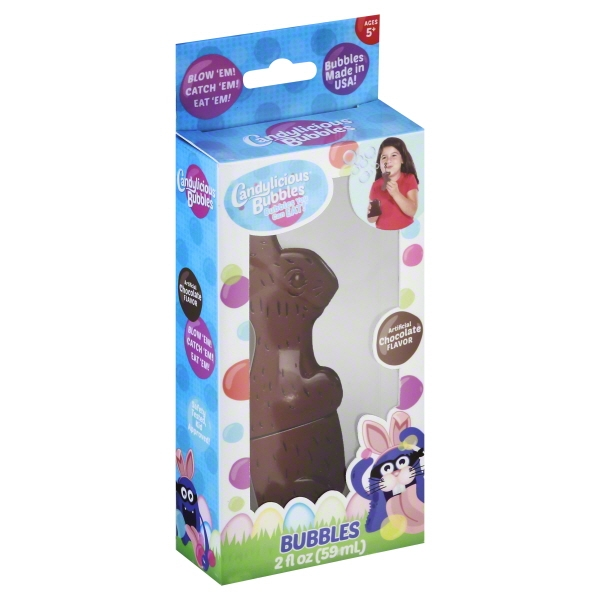 Candylicious Bubbles! Bubbles You Can Eat! Gluten Free! Chocolate Easter Bunny, 2 Ounces