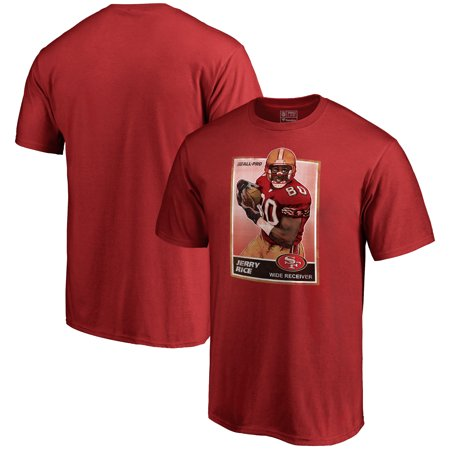 San Francisco 49ers NFL Pro Line by Fanatics Branded Retired Player Illustration Name & Number T-Shirt - Scarlet