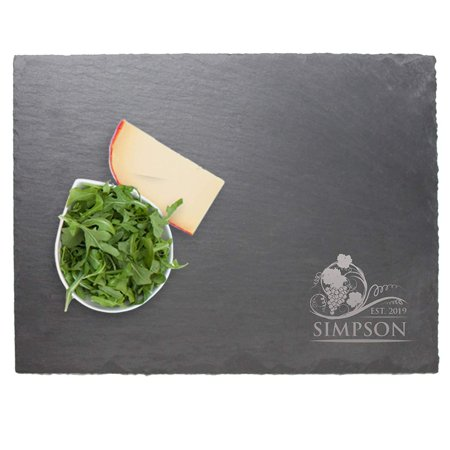 Engraved Slate Cheese Board Tray - Personalized and Custom Monogrammed for