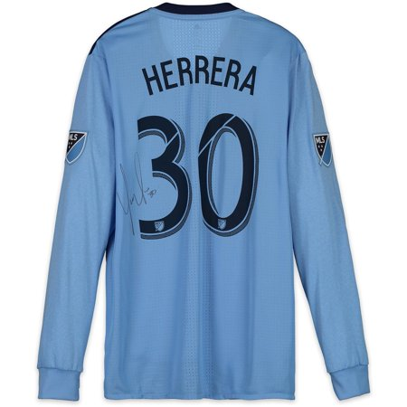 Yangel Herrera New York City FC Autographed Match-Used Blue #30 Jersey vs. Philadelphia Union on October 28, 2018 - Fanatics Authentic Certified - Party City Union New Jersey
