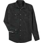 I-N-C Mens Side Stripe Button Up Shirt