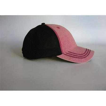 SD102 Slam Dunk Bleached Denim Front Soft Mesh Back Cap, Red, Black