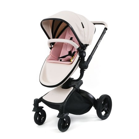 Wonderbuggy Stork Luxury 2 In 1 All Terrain Stroller With Reversible Reclining Seat And Carrycot - White