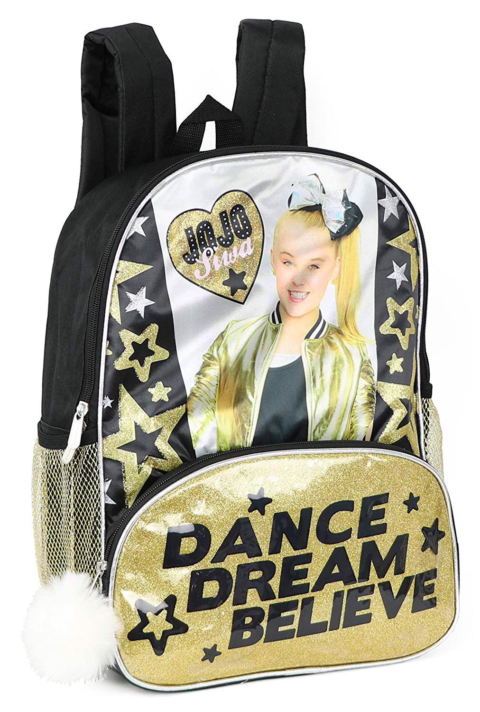 Nickelodeon Jojo Siwa Glitter Backpack With Pom Pom