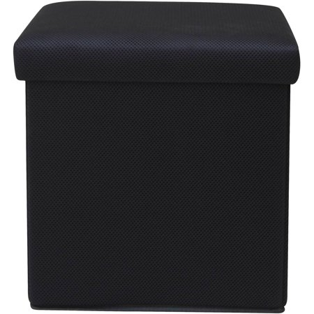 Mainstays Collapsible Storage Ottoman with Removable Bin ()