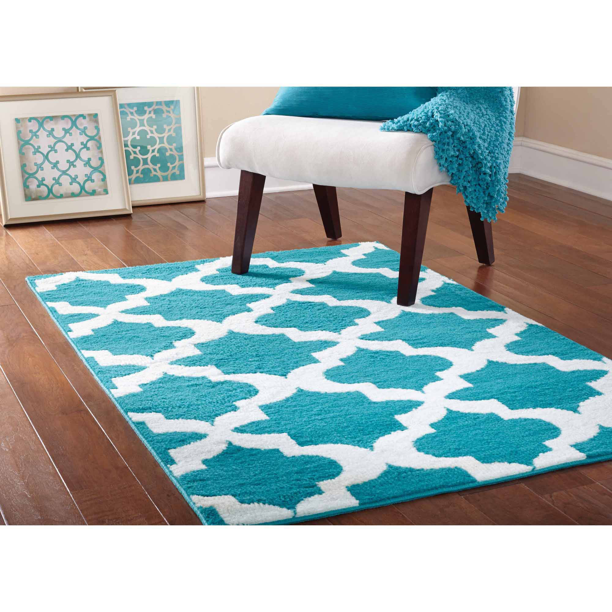 Mainstays Quatrefoil Area Rug Available In Multiple Colors And Sizes