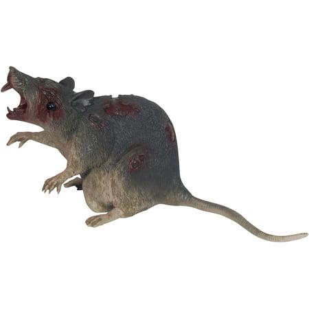 Loftus Lifelike Wounded Plastic Zombie Rat 10