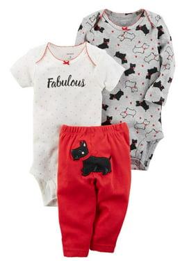 e2c2ed9fa414 Carter s Baby Girls Bodysuits - Walmart.com