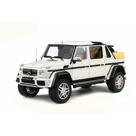 Mercedes Benz Maybach G650 Landaulet White Limited Edition to 504 pieces Worldwide 1/18 Model by GT Spirit for Kyosho