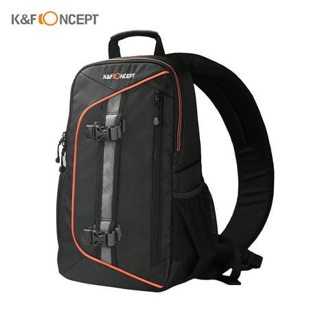 K&F CONCEPT Digital DSLR Camera Bag Backpack Case Travel Sling Shoulder Bag Shockproof Waterproof with Lens Cleaning Set for Canon Nikon Sony Outdoor (Best Dslr Camera For Travel Photography)