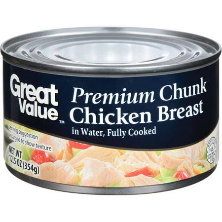 Great Value Premium Chunk Chicken Breast, 12.5 oz