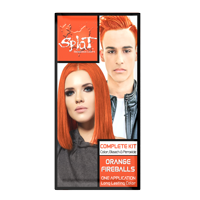 Splat Orange Fireballs Hair Color Kit, Semi Permanent Orange Hair Dye