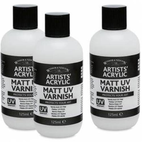 WINSOR & NEWTON / COLART 3030930 ARTISTS ACRYLIC MEDIUM MATT UV VARNISH 125ML