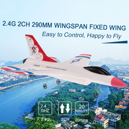 FX-823 2.4G 2CH 290mm Wingspan Remote Control Glider Fixed Wing EPP RC Airplane Aircraft RTF - image 7 de 7