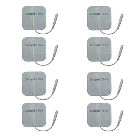 Pre Wired Electrodes (TENS Electrodes - Wired 2x2 Replacement Pads for TENS Units - 8 TENS Unit Electrodes - 2