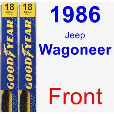 - 1986 Jeep Wagoneer Wiper Blade Set/Kit (Front) (2 Blades) - Premium