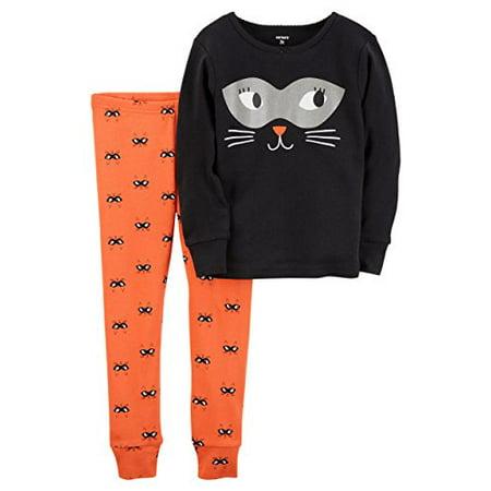 Carter's Girls' 2T-8 2 Piece Snug Fit Cotton Halloween PJS - Halloween Pjs