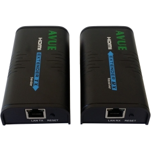 Avue HDMI Extender - HDMI-EC300 - 393.70 ft Range - 2 x Network (RJ-45) - 1 x HDMI In - 1 x HDMI Out - Full HD - 1920 x 1080 - Category 6 300FT BY CAT5E OR 400FT CAT 6