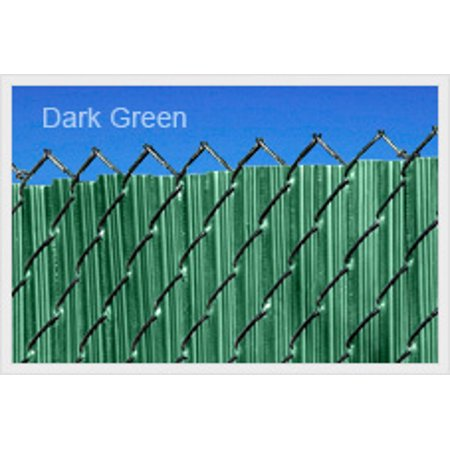 Green 3ft Ridged Slat for Chain Link Fence ()