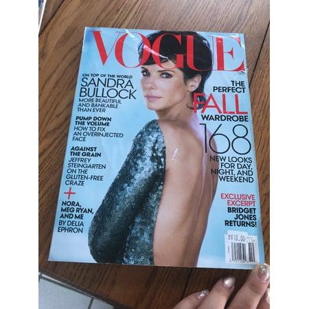 VOGUE Magazine October 2013 Sandra Bullock NEW Subscription Copy In Plastic