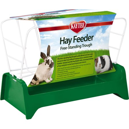 Super Pet- Container-Kaytee Free Stand Trough Hay Feeder- - Horse Hay Feeders