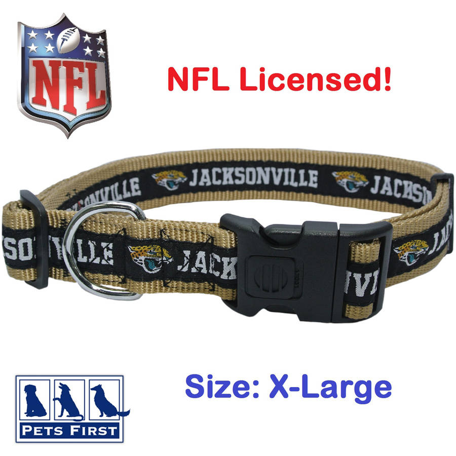 NFL Jacksonville Jaguars Strong, Durable, Heavy-Duty Dog Collar, Officially Licensed