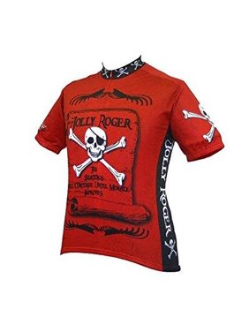 Product Image men s jolly roger pirate cycling jersey b7dbdcec0