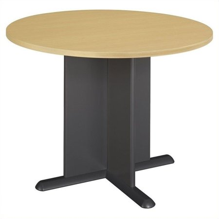 Bush Business Series A/C 42 Inch Round Conference Table in Beech ()