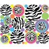 Multicolored Zebra Print Dot Wall Decals, 37 Zebra Circle / Dots Wall Stickers / Children's Wall Decor