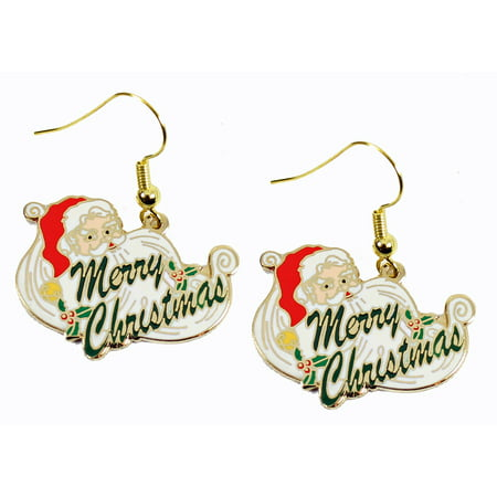 Santa Claus Merry Christmas Earrings Sports Tennis Earrings