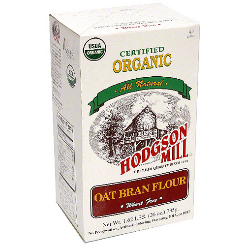 Hodgson Mill Organic Oat Bran Flour, 26 oz (Pack of 6)
