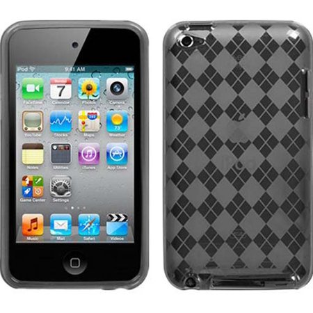 NEW SMOKE PLAID TPU CANDY SKIN CASE COVER FOR APPLE iPOD TOUCH 4 4G 4TH GEN (Ipod Touch 4 Cases Lego)