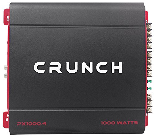 Package: Crunch PX-1000.4 1000 Watt 4-Channel Car Amplifier With Quick Thermal Dispersion Technology + Rockville RWK42 4 Gauge 4