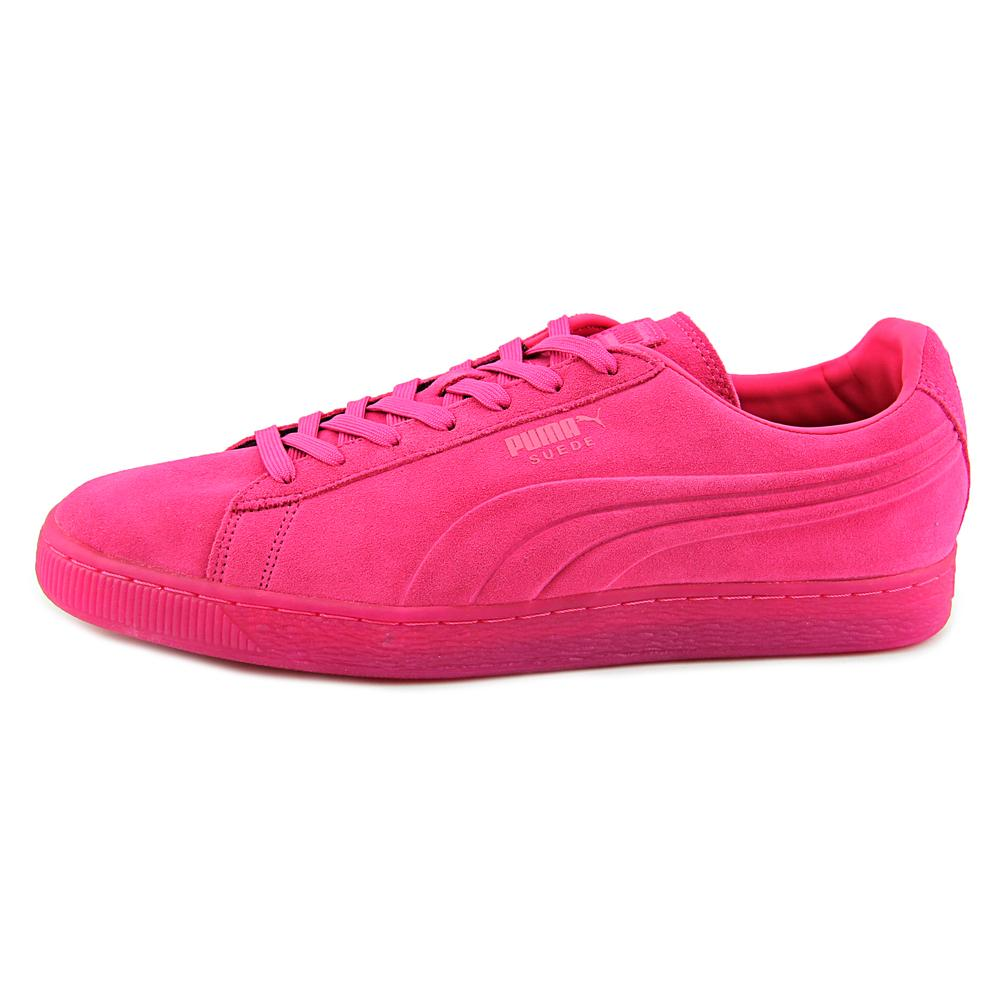 PUMA Men's Suede Emboss Iced Fluo Fashion Sneakers, Beetroot Purple, 12 D US