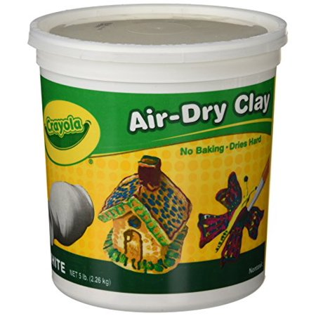 Air-Dry Clay, White, 5 Lbs - Air Dry Modeling Clay