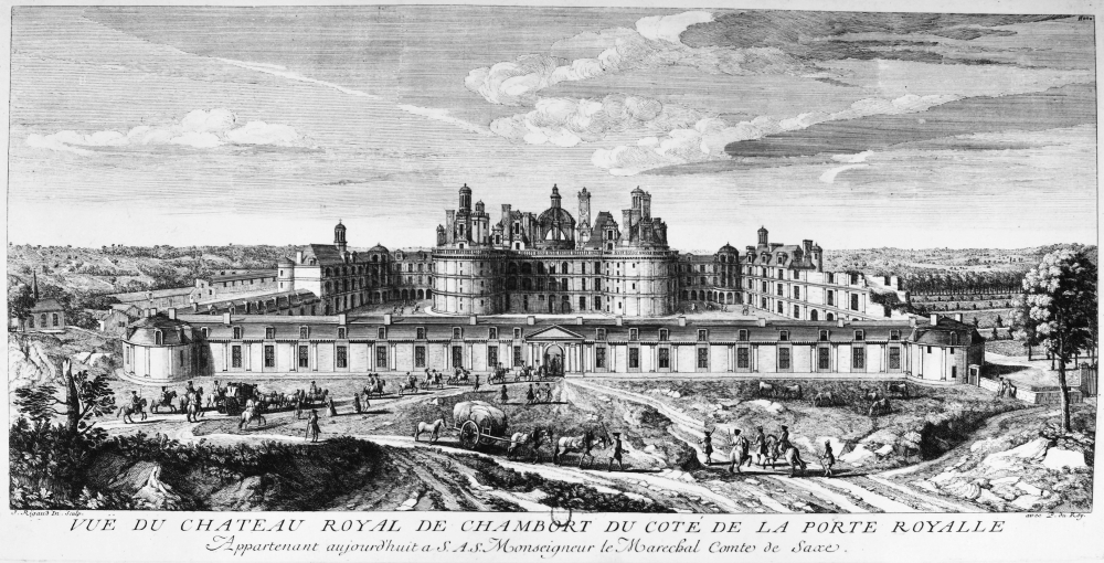 France Chambord Nchteau De In The Loire Valley Line Engraving By J Rigaud Early 18Th Century Poster Print Granger Collection