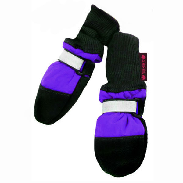 Muttluks Fleece Lined 3.75-Inch to 4.25-Inch Dog Boots, Large, Purple, Set of 4