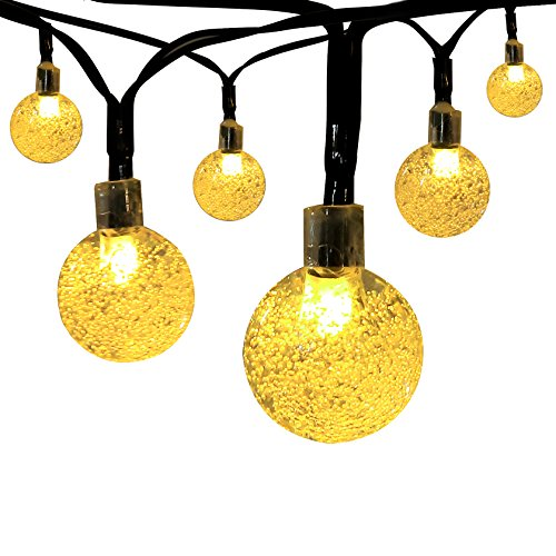 Innoo Tech Solar Globe String Lights Outdoor 19.7 ft 30 LED Warm White Crystal Ball Christmas Globe Lights for... by