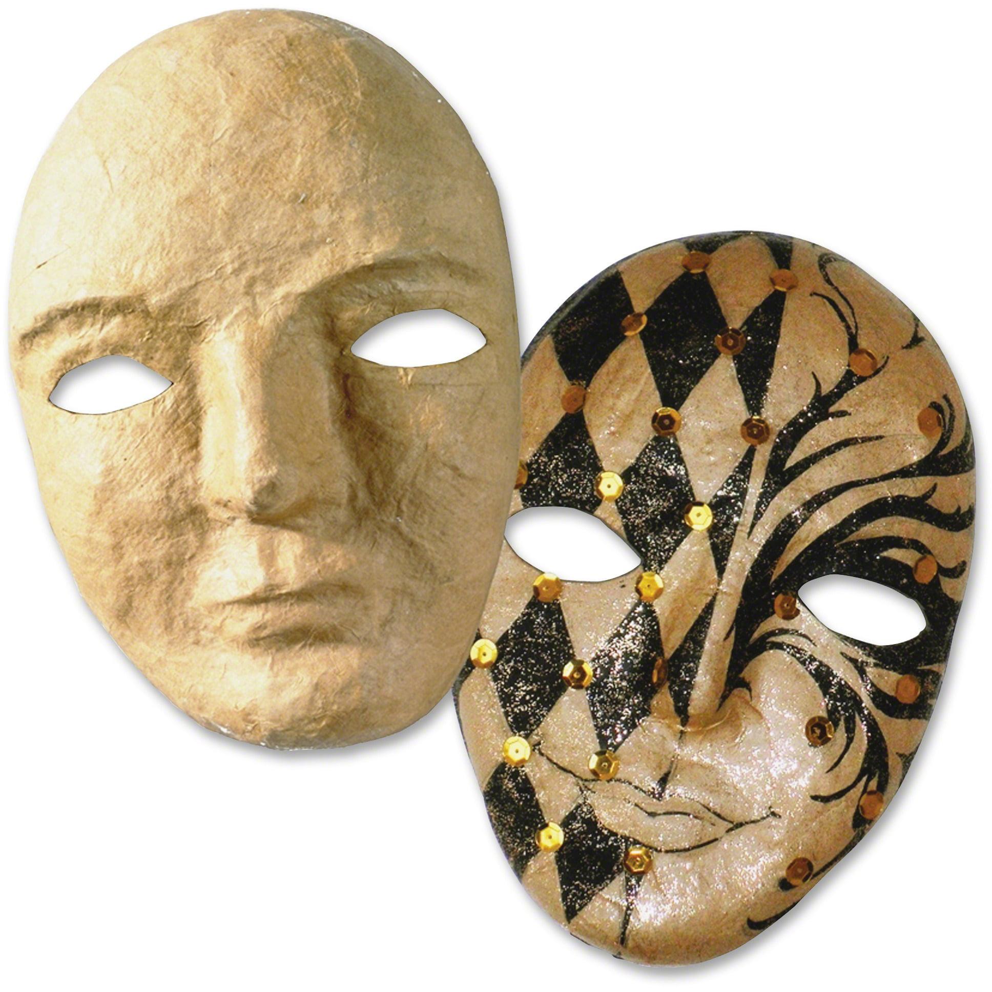 """Creativity Street, CKC4190, 8"""" Papier Mache Mask, 1 Each, Natural"""