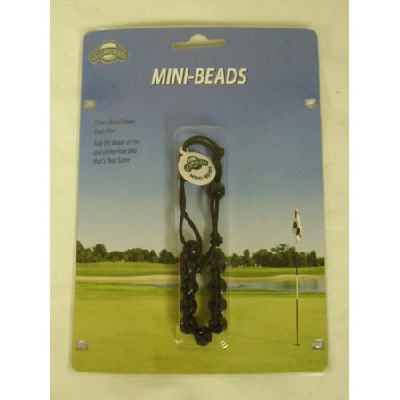 On Course Mini Beads Slotted Shot Counter (Black) Score Keeper Golf NEW - Glow In The Dark Golf Course